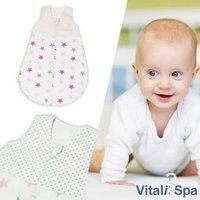 VITALISPA Babydecke Kinderschlafsack Größe 86-92 Schlafsack Sommerschlafsack Mädchen 12-18 Monate 90 cm