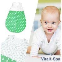 VITALISPA Babydecke Kinderschlafsack Größe 86-92 Schlafsack Sommerschlafsack Jungen 12-18 Monate 90 cm
