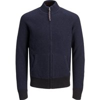 JACK & JONES Rollkragen- Strick-cardigan Men Blue