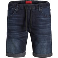 JACK & JONES Indigoknit Jeansshorts Men Blue
