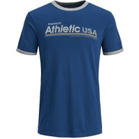 JACK & JONES Slim Fit Print T-shirt Men Blue