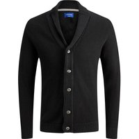 JACK & JONES Schalkragen- Strick-cardigan Men Black