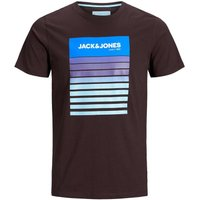 JACK & JONES Blockprint T-shirt Men Brown