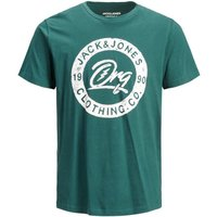 JACK & JONES Travel Print T-shirt Men Green