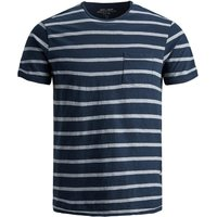 JACK & JONES Lennart Blu. Tee Ss Crew Neck T-shirt Men Blue