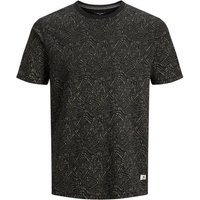 JACK & JONES Kenton Blu. Tee Ss Crew Neck T-shirt Men Black