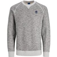 JACK & JONES Kontrastsaum Sweatshirt Men Grey