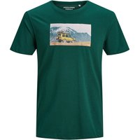 JACK & JONES Explorer Print T-shirt Men Green