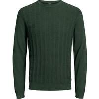 JACK & JONES Zopfstrick Strickpullover Men Green