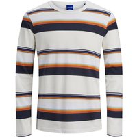 JACK & JONES Gestreifter Longsleeve Men White