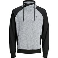 JACK & JONES Hoher Schalkragen Sweatshirt Men Grey