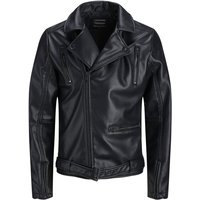 JACK & JONES Terminator Faux Lederjacke Men Black
