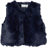 NAME IT Faux Fur Gilet Women Blue