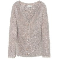 NAME IT Knitted Silver Tinsel Cardigan Women Silver