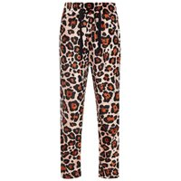 NAME IT Leopardenprint Velours Hose Women Pink