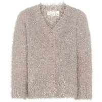 NAME IT Silberglitter Strick Strickjacke Women Pink; Silver