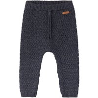NAME IT Merino Wool Knitted Trousers Men Blue