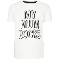 NAME IT Bedrucktes T-shirt Unisex White