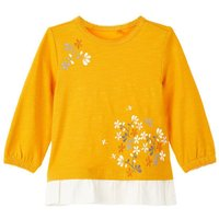 NAME IT Floral Printed Long-sleeved T-shirt Women Yellow