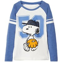 NAME IT Snoopy Print Long-sleeved T-shirt Men Blue
