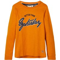 NAME IT Statement Applique Long-sleeved T-shirt Men Yellow