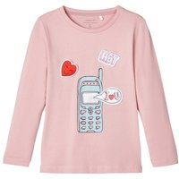 NAME IT Changeable Badges Long-sleeved T-shirt Women Pink