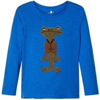 NAME IT Froschapplikations Longsleeve Men Blue