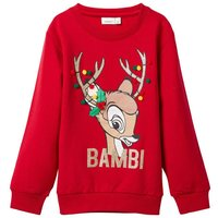 NAME IT Disney Bambi Christmas Sweatshirt Women Red