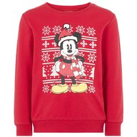 NAME IT Disney Christmas Mickey Mouse Sweatshirt Men Red
