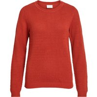 VILA Struktur Strickpullover Women Red