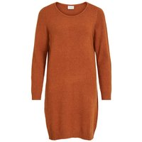 VILA Langarm Strickkleid Women Brown
