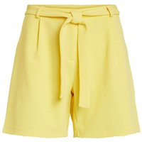 VILA Weite Gurtel Shorts Women Yellow