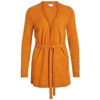 VILA Waist Tie Knitted Cardigan Women Orange
