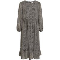 VILA Leopardenprint Midikleid Women Grey