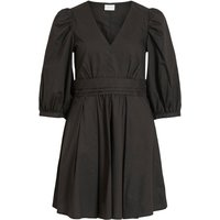 VILA Puff Sleeved V-neck Mini Dress Women Black