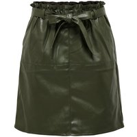 ONLY Leather Look Skirt Women Green
