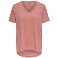 ONLY V-ausschnitt T-shirt Women Pink