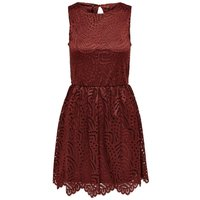 ONLY Spitzen Kleid Ohne Armel Women Red