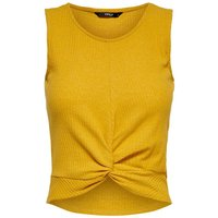 ONLY Cropped Oberteil Ohne Armel Women Yellow