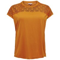 ONLY Curvy Loose Short Sleeved Top Women Yellow