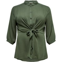 ONLY Curvy Solid Color 3/4 Sleeved Shirt Women Green
