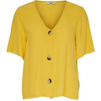 ONLY Button Short Sleeved Top Women Yellow