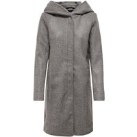 ONLY Langer Woll Mantel Women Grey