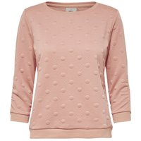 ONLY Dotted Sweatshirt Women Pink