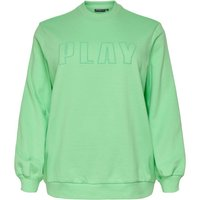 ONLY Curvy Brush Effekt Sweatshirt Women Green