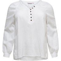 ONLY Curvy Button Long Sleeved Shirt Women White