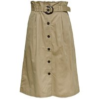 ONLY High Waist Gurtel Midirock Women Beige