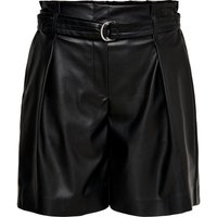 ONLY Leather Look Shorts Women Black