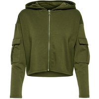 ONLY Cropped Hoodie Women Green