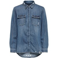 ONLY Nieten Jeanshemd Women Blue